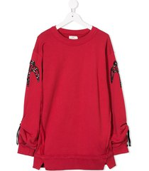 andorine embroidered sweater dress