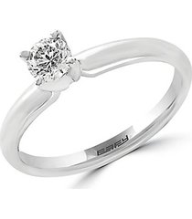 bridal 14k white gold & diamond solitaire ring
