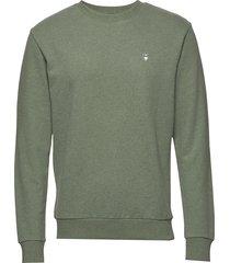 elm small owl sweat - gots/vegan sweat-shirt trui groen knowledge cotton apparel