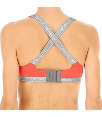 emporio armani dames padded bralette - rood