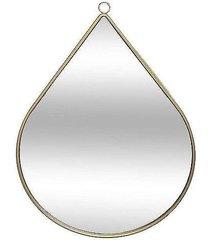 lustro w metalowej ramie tear