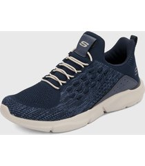tenis lifestyle azul-blanco skechers fit relaxed fit