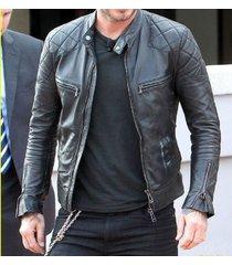 mens leather jacket, new men quilted jacket, mens black biker jacket, men jacket