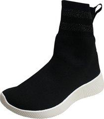 zapatilla tela negra todopiel