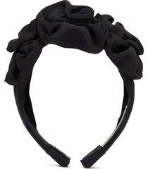 'triple rosette' faille headband