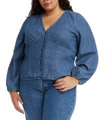 levi's trendy plus size cotton sophia top