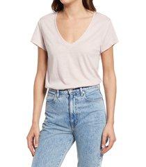 women's splendid eco v-neck t-shirt, size small - pink