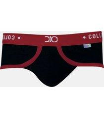 cueca slip premium very sexy dionisio collection preto/vermelho