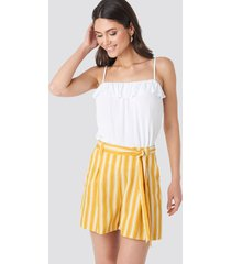 trendyol binding detailed shorts - yellow