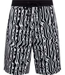 patterned sweat shorts