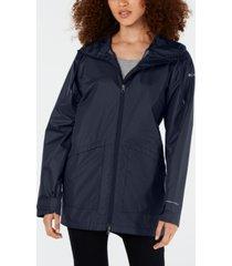 columbia arcadia omni-tech water-repellent hooded jacket