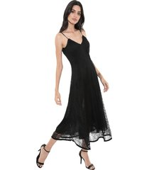 vestido my favorite thing(s) midi renda preto - kanui