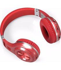 audifonos bluetooth, h plus bluedio auriculares inalámbricos estéreo audifonos bluetooth manos libres  v4.1 auriculares con radio fm tf ranura para tarjeta construido en micrófonos (rojo)