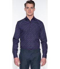 blue industry casual shirt met lange mouwen paars