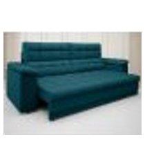 sofá apollo 2,50m retrátil e reclinável velosuede royal - netsofas