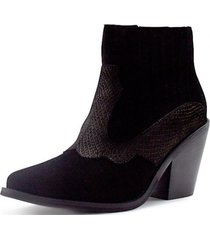 botin boston casual negro detogni