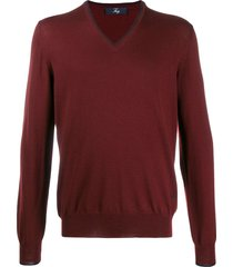 fay elbow patch pullover - red