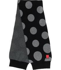 raeburn spot camo knitted scarf - black