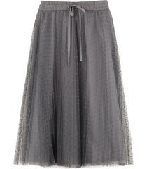 red valentino pleated tulle point desprit skirt