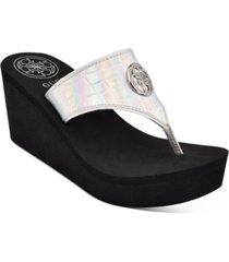 guess women's solene thong sandals women's shoes