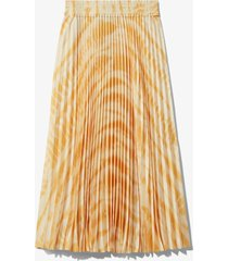 proenza schouler white label pleated tie dye skirt light yellow/tangerine alligator t/d l