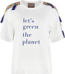 pinko printed and embroidered t-shirt