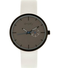simplify quartz the 3900 genuine white leather watch 40mm