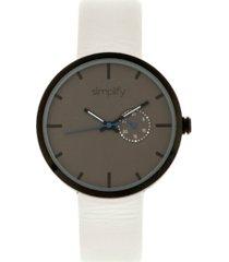 simplify quartz the 3900 genuine white leather watch 40mm