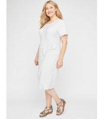 twisted stripe a-line dress