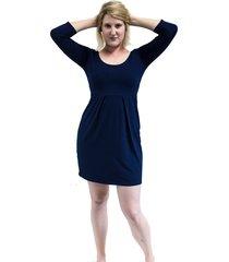 vestido bazz decote redondo azul-marinho