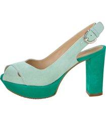 sandaletter gennia mint::smaragd