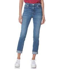 women's paige sarah high waist straight slim leg jeans