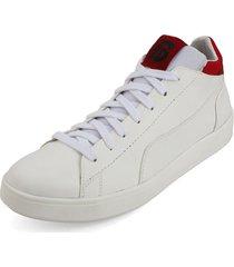 tenis blanco por rojo blanco perla 230