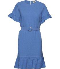 sandy dress kort klänning blå twist & tango