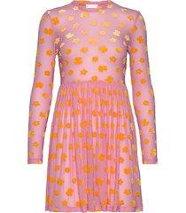 juliana, 773 velvet devore korte jurk roze stine goya