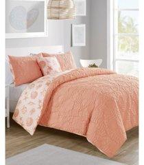 beach island 3-pc. twin xl reversible duvet cover set bedding