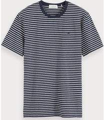 scotch & soda classic striped t-shirt