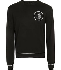 balmain regular fit logo sweatshirt