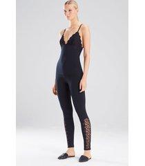 element cami pajamas, women's, black, cotton, size m, josie natori