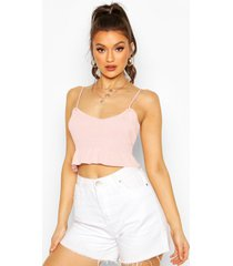 knitted ruffle crop top, blush