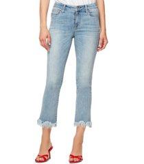 sanctuary frayed-hem cropped jeans