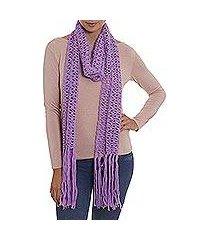 100% alpaca scarf, 'lilac queen' (peru)