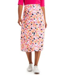 charter club printed midi skirt, created for macy's
