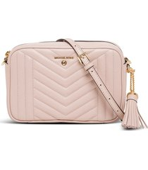 michael kors jet set charm crossbody bag in quilted leather