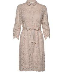 dress 3/4s jurk knielengte crème rosemunde