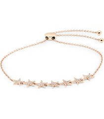14k rose gold & diamond star bolo bracelet