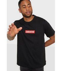 levis relaxed graphic tee boxtab ss t-shirts & linnen black
