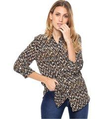 camisa marrón donadonna