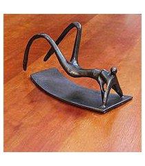 bronze sculpture, 'ipanema sunbather' (brazil)