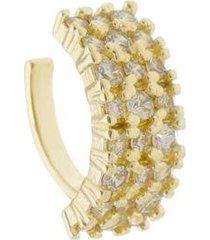 piercing de encaixe alice 3 fileiras zircônia cristal folheado a ouro 18k feminino - feminino